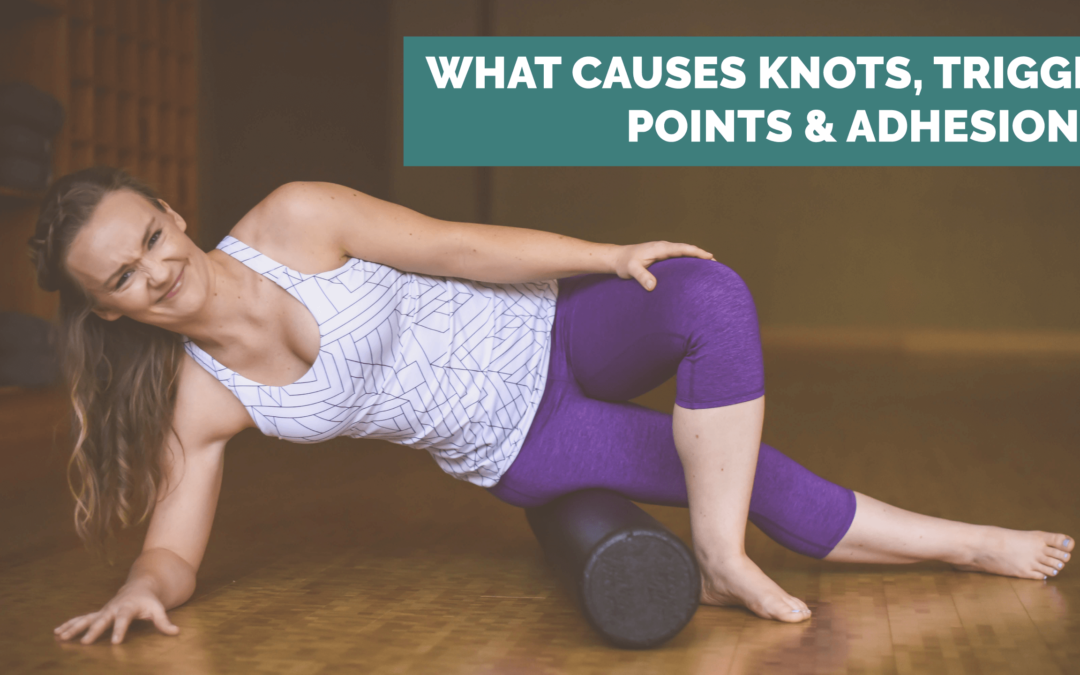 What causes knots, trigger points and adhesions?