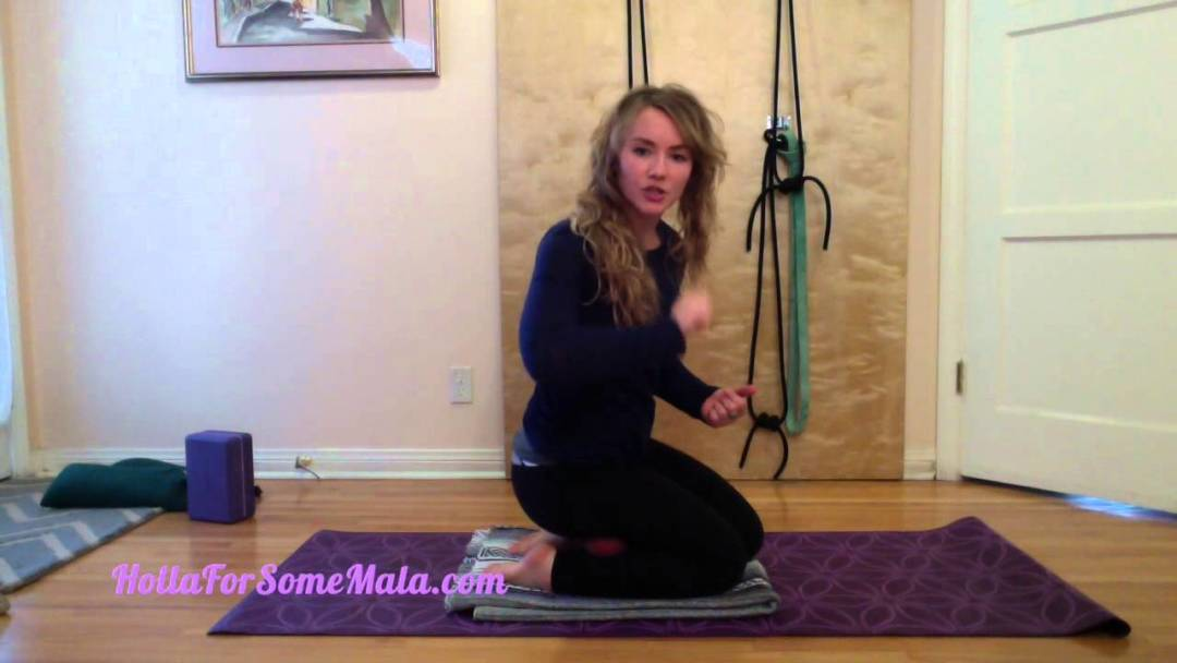 Calf stretch with Yoga Tune Up Therapy Ball PLUS