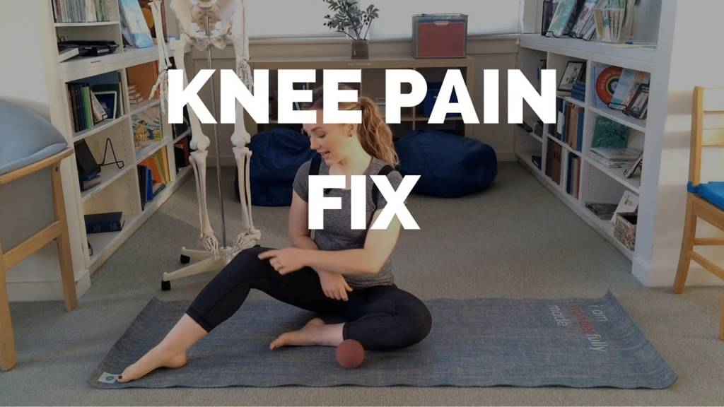 Knee Pain Fix with Yoga Tune Up ALPHA Ball