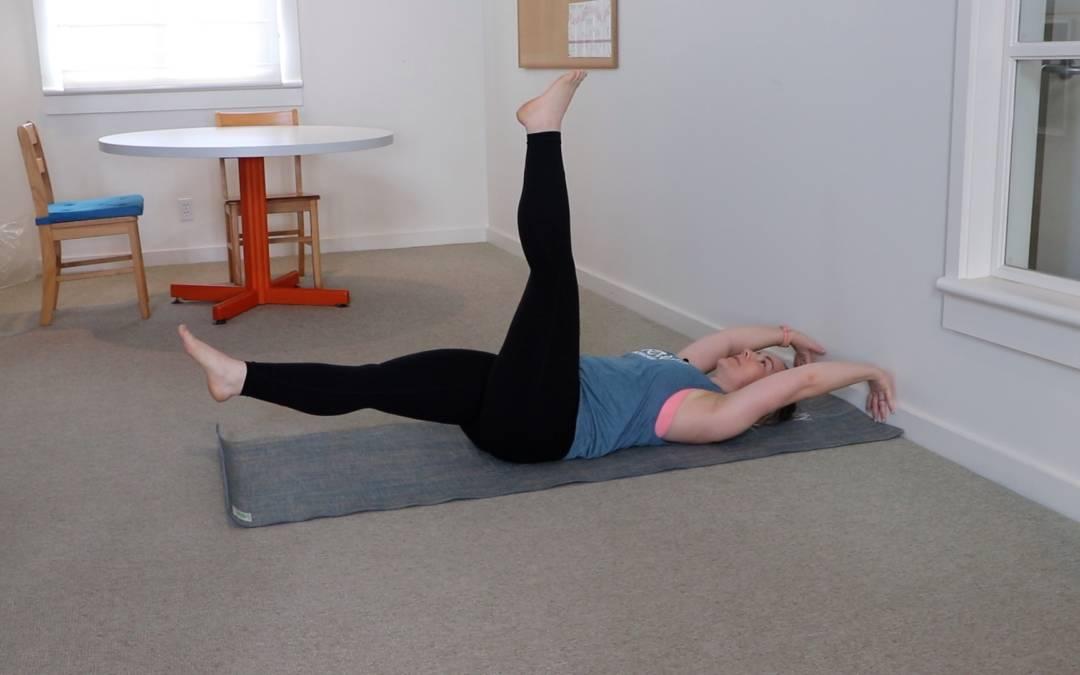 Leg Lift Series at Wall