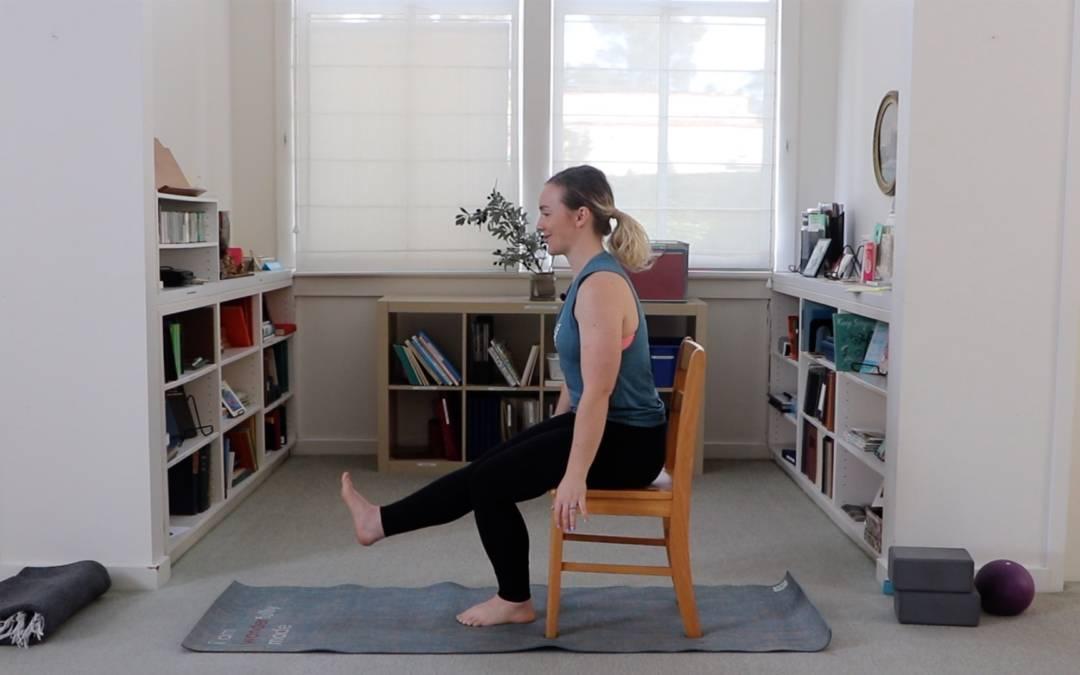 Single Leg Squat Progression with Chair